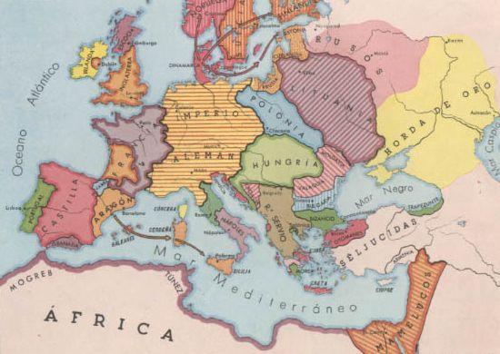 Pais Global Mapas Europa A Mediados Del Siglo Xiv