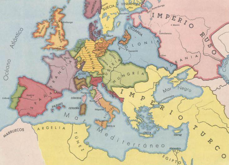Pais Global Mapas Europa A Mediados Del Siglo Xviii
