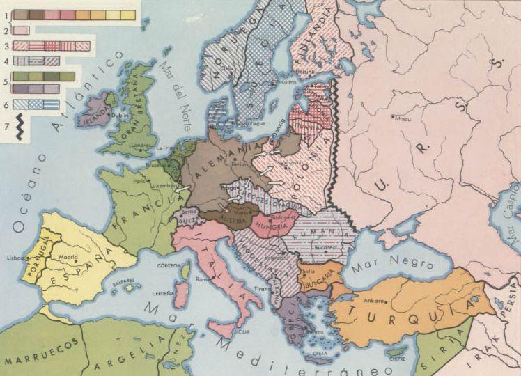 Pais Global Mapas Europa En El Periodo Intermedio